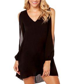 Short Front Long Back Black Dress