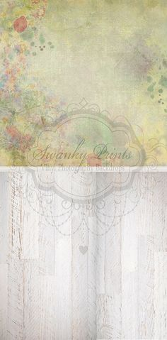Painted Textured Floral & White Textured Wood - Oz Backdrops and Props