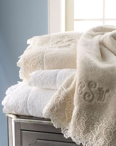 """Callista Lace"" Towels by Matouk at Horchow."