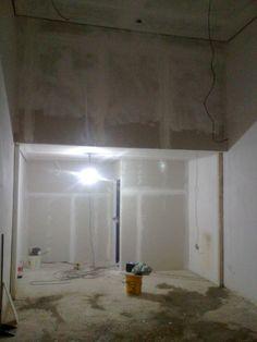 Rebaixamento de teto, Painel e paredes com gesso acartonado. (Drywall)