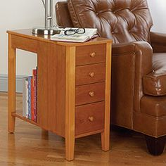 """itty bitty side table, just 11.25"""" wide. nightstands for the little bedroom?"""
