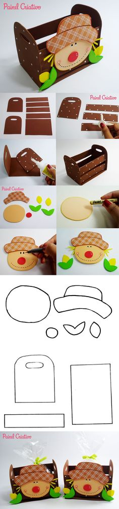7 Lembrancinhas de Festa Junina com Passo a Passo e Molde - Revista Artesanato Kids Crafts, Foam Crafts, Crafts To Do, Hobbies And Crafts, Easy Crafts, Arts And Crafts, Paper Crafts, Kindergarten Fun, Foam Sheets