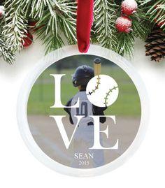 Baseball, Photo Ornament