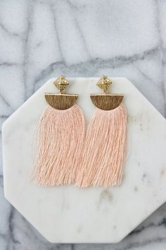 Ombre Pink Maxi Hoop Earrings Statement Earrings for Tres Chic Look Maxi Earrings Gift For Her Darling Bohemian Festival Earrings  SALT