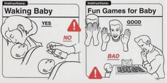 Waking Baby & the Fun Games - Baby Instructions 101 – the Do's & Don'ts