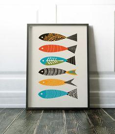 Fish Print Wall Art Wall Art Print Fish Wall Art Modern