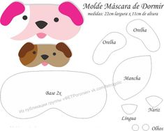 choosing-the-right-mascara-for-you - More Beautiful Me 1 Felt Patterns, Sewing Patterns, Dog Template, Bear Felt, Cat Coasters, Animal Bag, Sleeping Dogs, Ornament Crafts, Sleep Mask