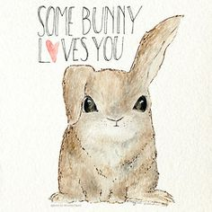 love drawing Illustration art animals cute painting i love you heart ink bunny rabbit fur cute animal Valentine's Day lover 365 day project artists on tumblr valentines day card 365 day challenge watercolor ink some bunny loves you aiw365 agnes in wonderland