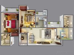 3d Colored House Floor Plans 3d gallery - artist impressions - 3d architectural visualisation