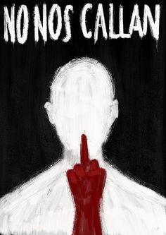Ilustración. Libertad de expresión. Censura. Represión. Arte. Político. Crítica. Protest Posters, Political Art, Painted Clothes, Power To The People, Yandere, Fantasy Creatures, Dark Art, Art Inspo, Art Sketches