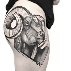 "6,806 Likes, 44 Comments - Frank Carrilho (@frankcarrilho) on Instagram: ""RAM  for Victoria, thank you  ➕Face healed, horns fresh➕  @silverbackink @revolutionneedles…"""