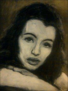 On a portrait of Christine Keeler by painter Fionn Wilson http://www.fionnwilson.co.uk/christine_keeler_3.html