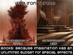 Love HBO's take on the Iron Throne, but man is GRRM's vision incredibly awesome. #gameofthrones #asoiaf #books