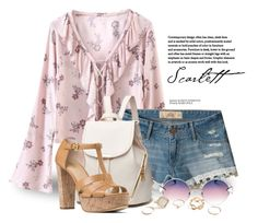 """""""Something Pink 3390"""" by boxthoughts ❤ liked on Polyvore featuring Hollister Co., MICHAEL Michael Kors, Fendi and GUESS"""