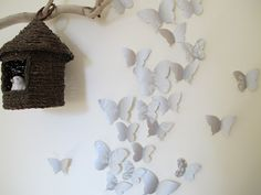 DIY: 3D butterfly wall decoration