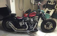 My Harley Davidson bobber softail 1340 Evo. Softail Bobber, Harley Bobber, Chopper Motorcycle, Bobber Chopper, Bobber Style, Brat Cafe, Custom Bobber, Cool Motorcycles, Harley Davidson Bikes