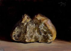 Daily painting of Monks bread -- Julian Merrow Smith