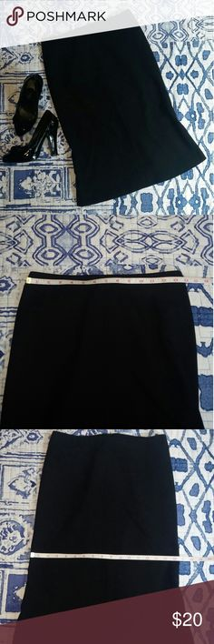 "EXPRESS Black Wool Pencil Skirt Pencil with slight flare on bottom. Fully lined. Back center zipper. Length about about 24.5"". See pics for additional measurements. 98%Wool 2% Spandex. Dry clean only. Happy Shopping!! Express Skirts"