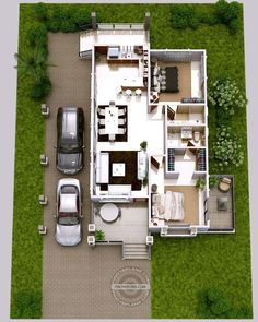 Modern House Designs for 150 Sqm Luxury 2 Bedroom Elevated House Design Modern Small House Design, Small Modern Home, Modern Bungalow House, Bungalow Homes, Porch House Plans, House Floor Plans, Elevated House Plans, House Floor Design, 2 Storey House