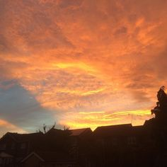 """This photograph of the Sun setting over Harrogate North Yorkshire was taken by Mark Oldfield on Thursday. Next weeks theme for #englandsbigpicture is """"Paralympics""""  join in and send your photographs to england@bbc.co.uk #england #picoftheday #photosofbritain #ukpotd #capturingbritain #sunset #harrogate #northyorkshire"""