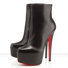 Christian Louboutin Ankle Boots Daf Booty 160 Leather Black Shoes de13ea40e04