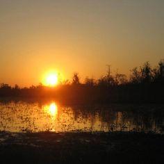 Sunset on the Okefenokee