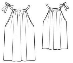 Sewing Patterns Free, Sewing Tutorials, Clothing Patterns, Diy Clothing, Sewing Clothes, Fashion Sewing, Diy Fashion, Pillowcase Dress Pattern, Costura Fashion