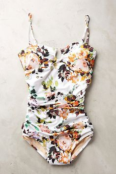 Sirena Ruched Maillot #anthropologie