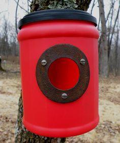 BirdHouse 44 Predator Resistant Repurposed by OzarkMountaincraft #teamupcyclers birdhous