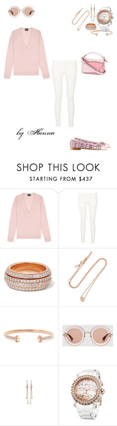 """""""1428"""" by hannitach ❤ liked on Polyvore featuring The Row, Chanel, Piaget, Gucci, Chopard, Loewe and hannasali"""