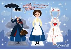 Mary Poppins paper doll