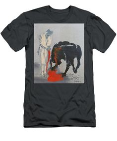 Purchase a t-shirt featuring the image of Corrida no. 2 - 2000 by Florin Barza. Available in sizes S - XXL. Each t-shirt is printed on-demand, ships within 1 - 2 business days, and comes with a money-back guarantee. Street Wear, Fine Art, Mens Tops, T Shirt, How To Wear, Supreme T Shirt, Tee, T Shirts, Visual Arts