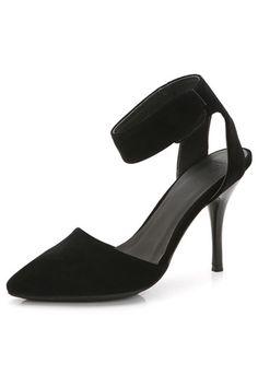 Chic Sandales noires à talons aiguille bout pointu en suédé pour printemps Kitten Heels, Chic, Fashion, Black Heels, Heeled Sandals, Spike Heels, Accessories, Daughters, Fashion Styles