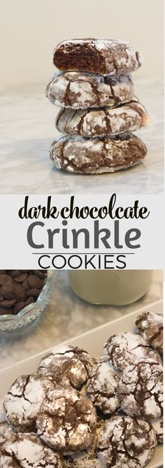 You will love these perfect dark chocolate crinkle cookies. We call these Earthquake cookies and they have gooey chocolate inside. #ad #mymilkmyway