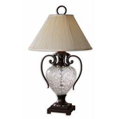 Sturbridge Clear Crackle Glass One-Light Table Lamp