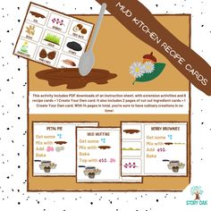 Create Your Own Card, Create Yourself, Mud Recipe, Outdoor Nursery, Stainless Steel Pot, Tree Cookies, Mud Kitchen, Outdoor Learning, Tree Nuts