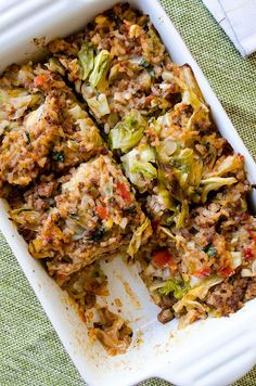 Unstuffed Cabbage Casserole doesn't take even the half time of stuffed cabbage rolls but it is as scrumptious.   giverecipe.com