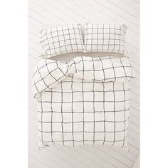 Wonky Grid Duvet Cover ($99) ❤ liked on Polyvore featuring home, bed & bath, bedding, duvet covers, cotton bedding, modern king bedding, king duvet insert, modern black and white bedding and black and white cotton bedding