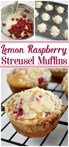 Lemon Raspberry Streusel Muffins with a lovely bright, raspberry flavor and topped with a sweet buttery streusel topping. Perfect morning treat! Easy #muffin recipe from Butter With A Side of Bread via @ButterGirls