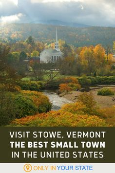Stowe, Vermont was just named one of the best small towns in America. It's the perfect rural vacation destination with country charm, scenic views, plenty of outdoor adventures, and a wonderful downtown with shopping and dining. If you're looking for a quaint weekend away or a longer escape to the mountains, Stowe is the place for you. Stowe Vermont, Hidden Beach, Local Attractions, Swimming Holes, Natural Scenery, Mountain Resort, Country Charm, Outdoor Adventures, Summer Travel