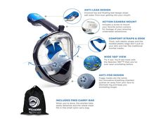 """For you who like to swim in depth or snorkel definitely need a swimming goggles with nose cover. Now there is a snorkel product that we think is a genius product for the needs of snorkeling, how in the experience of the customer, let them explain it: """"Wow, game changer! This mask is legit,..."""