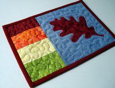 Hey, I found this really awesome Etsy listing at http://www.etsy.com/listing/163186125/fall-oak-leaf-recycled-denim-mug-rug