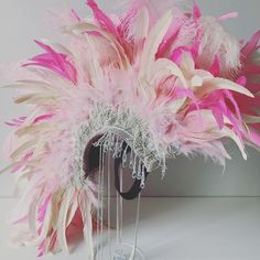 Showgirl Flamingo Pink Feather Mohawk Statement Headpiece | Etsy Bridal Headdress, Feather Headdress, Headpiece, Black Feathers, Showgirls, Original Image, Absolutely Stunning, Color Combos, Special Day