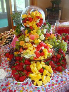 Fruit display for daughter's graduation party. Created by my BFF. : )