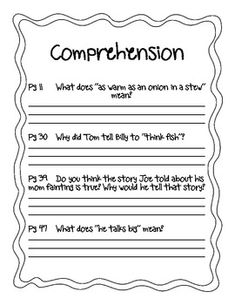 How to eat fried worms by t rockwell comprehension questions how to eat fried worms packet ccuart Images