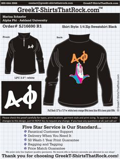 Alpha Phi SJ16690 R1 ...................................................WORK 1 ON 1 with a member of our design team until your T-Shirt ideas are perfect.... and ALWAYS them on in time (before you even need them) at the price you want! ...................................................................................................... JUST CLICK THIS IMAGE TO GET STARTED!