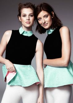 hm fashion minju Anais Pouilot & Marikka Juhler Wear the 2013 H&M Design Award Winners Collection Elin Kling, H&m Fashion, Fashion Beauty, Fashion Weeks, Unique Fashion, Latest Fashion, Vintage Fashion, Womens Fashion, Olivia Palermo