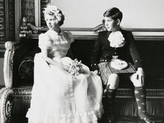 British Royalty:  The Prince of Wales and The Princess Anne (later The Princess Royal) at the wedding of their aunt, The Princess Margaret.