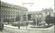 Christiania Kristiania Wessels Plads brukt 1914