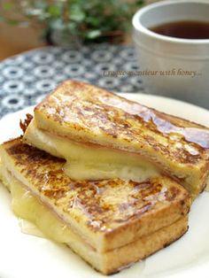 ハニーなハムとチーズのクロックムッシュ♪